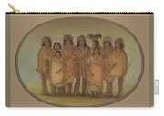 Nine Ojibbeway Indians In London Carry-all Pouch
