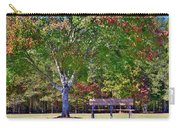 Ninety Six National Historic Site Bench In Autumn  Carry-all Pouch