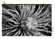 Niobe Clematis Study In Black And White Carry-all Pouch