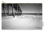 Nj Shore In Black And White Carry-all Pouch