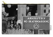 No Skateboarding Carry-all Pouch