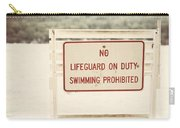 No Swimming Carry-all Pouch by Lisa Russo
