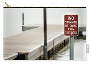 No Swimming Or Diving Carry-all Pouch