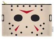 No449 My Friday The 13th Minimal Movie Poster Carry-all Pouch by Chungkong Art