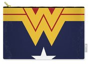 No825 My Wonder Woman Minimal Movie Poster Carry-all Pouch
