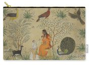 Noble Woman In A Garden Carry-all Pouch
