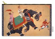 Nobleman Riding Elephant Carry-all Pouch