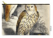 Nocturnal Scene With Three Owls Carry-all Pouch