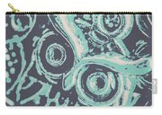 Nocturnal The Blue Owl Carry-all Pouch