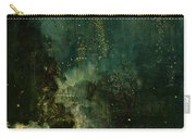Nocturne In Black And Gold - The Falling Rocket Carry-all Pouch by James Abbott McNeill Whistler