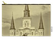 Nola - Jackson Square In Sepia Carry-all Pouch