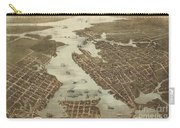 Norfolk And Portsmouth Map Carry-all Pouch