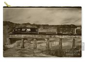 Norfolk Train - Chattahoochee River - Sepia Carry-all Pouch