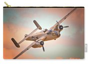Pacific Princess North American B-25 Mitchell Across Rosy Skies Carry-all Pouch