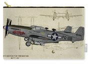 North American F-82b Twin Mustang - Profile Art Carry-all Pouch