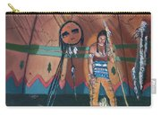 North American Indian Contemplating Carry-all Pouch