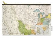 North American Indian Tribes, 1833 Carry-all Pouch