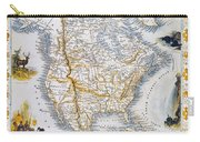 North American Map, 1851 Carry-all Pouch