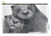 North American River Otters Carry-all Pouch