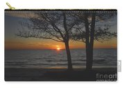 North Beach Sunset Carry-all Pouch by David Lee Thompson