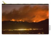 North Boulder Colorado Fire Above In The Hills Carry-all Pouch