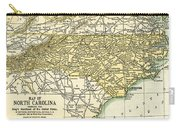 North Carolina Antique Map 1891 Carry-all Pouch