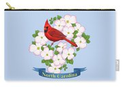 North Carolina State Bird And Flower Carry-all Pouch by Crista Forest