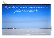 North Dakota Prairie Landscape With Inspirational Text Carry-all Pouch