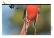 Northern Cardinal With Berry Carry-all Pouch