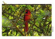 Northern Cardinal Work Number Two Carry-all Pouch