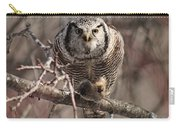 Northern Hawk Owl Having Lunch 9417 Carry-all Pouch