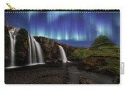 Northern Lights At Kirkjufellsfoss Waterfalls Iceland Carry-all Pouch