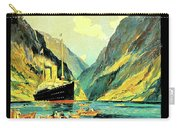 Norway Orient Cruises, Vintage Travel Poster Carry-all Pouch