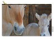 Norwegian Fjord Horse And Colt 1 Carry-all Pouch