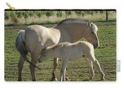 Norwegian Fjord Horse And Colt Carry-all Pouch