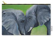 Nose To Nose In Green Carry-all Pouch