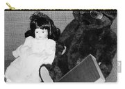Nostalgic Doll And Bear With Reading Book Carry-all Pouch