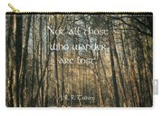 Not All Those Who Wander Carry-all Pouch by Jessica Brawley