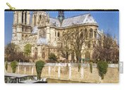 Notre Dame And The Seine Painterly Carry-all Pouch