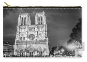 Notre Dame B/w Carry-all Pouch