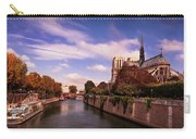 Notre Dame Cathedral And The River Seine - Paris Carry-all Pouch by Barry O Carroll