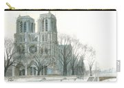 Notre Dame Cathedral In March Carry-all Pouch by Dominic White
