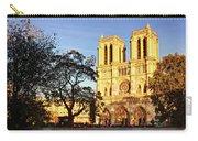 Notre Dame De Paris Facade Carry-all Pouch by Barry O Carroll