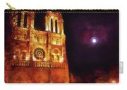 Notre Dame In The Autumn Moonlight Carry-all Pouch