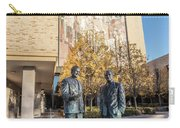 Notre Dame Library And Statue Carry-all Pouch