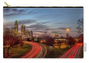November Sun Setting Over Charlotte North Carolina Skyline Carry-all Pouch
