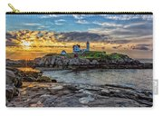 Nubble Light At Sunrise Carry-all Pouch