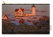 Nubble Light At Sunset Carry-all Pouch by Paul Mangold