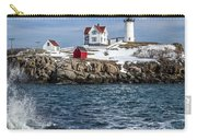 Nubble Lighthouse Winter Carry-all Pouch