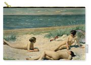 Nude Bathers On The Beach Carry-all Pouch